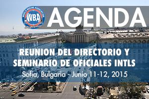 Agenda: WBA Board of Directors Meeting in Sofia, Bulgaria