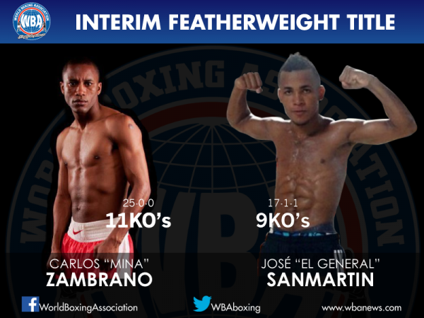 Zambrano Defends Featherweight Title Saturday