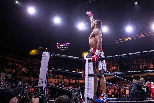 Keith Thurman brought his considerable talents into the ring. But Collazo proved to be tougher than anyone expected. (Photo: Lucas Noone/Premier Boxing Champions)