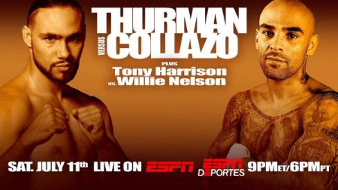 Undefeated, the 26-year-old Thurman (25-0, 21 KOs) is an eight-year pro who fights out of Clearwater, Florida.