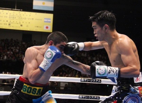 Photos: Ioka stops Sosa, retains WBA Crown