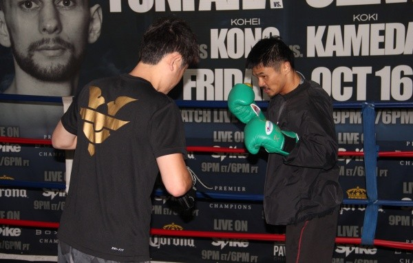 Photos: Kono, Kameda Put in Work at Open Workouts