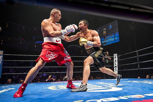 Shumenov won the WBA title via unanimous decision over BJ Flores. (Joshua Dahl/Las Vegas Review-Journal)
