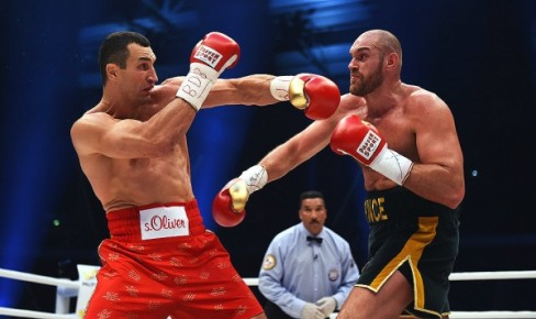 Fury was the busier and sharper fighter, but there weren't a ton of punches being thrown by either man. (Photo: Courtesy)