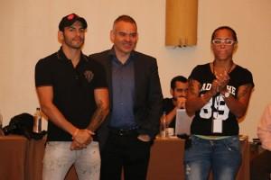 Mayerlin Rivas y Jorge Linares estuvieron presentes en la jornada de discusión