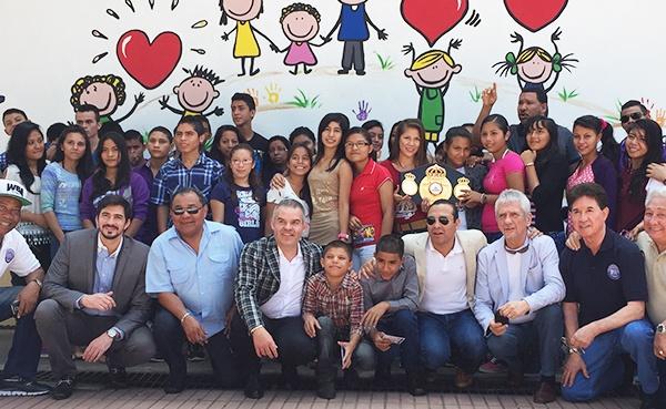 La AMB visitó Aldeas Infantiles en El Salvador