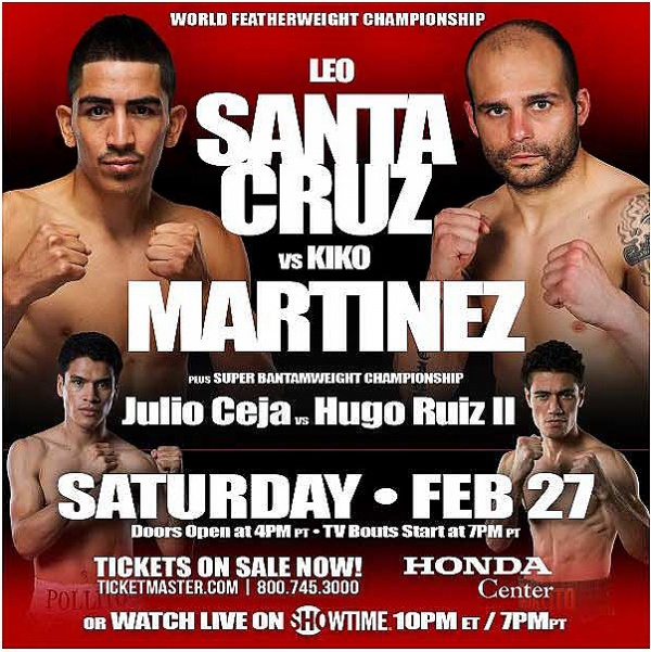 Leo Santa Cruz vs. Kiko Martinez