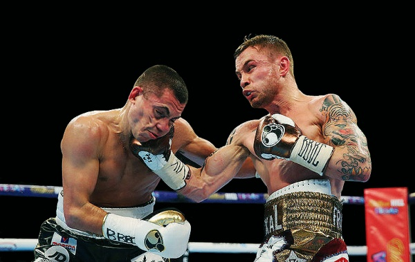 Carl Frampton won a split decision over Scott Quigg to unify the WBA and IBF super bantamweight titles. (Photo: Alex Livesey/Getty Images)