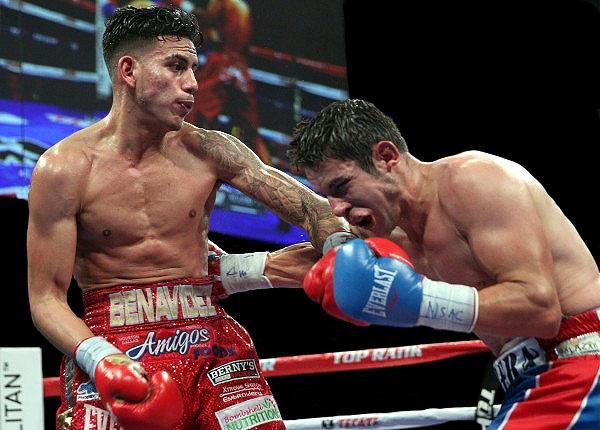 Benavidez won the title by beating Mauricio Herrera via unanimous decision in December 2014. (Chris Farina/Top Rank)