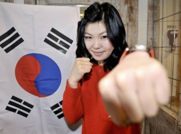 Hyun-Mi Choi WBA Female Super Featherweight Champion.