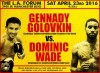 Gennady Golovkin will defend his WBA/WBC/IBF/IBO middleweight titles against Dominic Wade on Saturday, April 23.