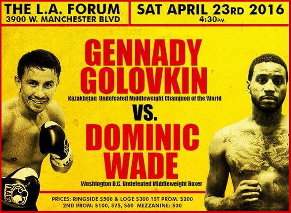 Golovkin vs. Wade Preview