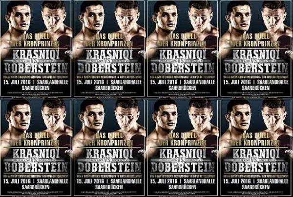 Juergen Doberstein will defend his WBA Inter-Continental super middleweight title against Robin Krasniqi.