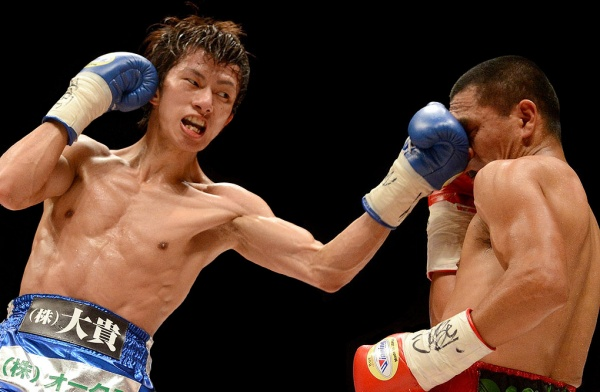 Taguchi won the WBA title in December 2014 by beating Alberto Rossel via unanimous decision. (Photo: Naoki Fukuda)