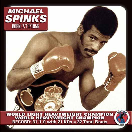 Spinks won the WBA World light heavyweight title by beating Eddie Mustafa Muhammad.