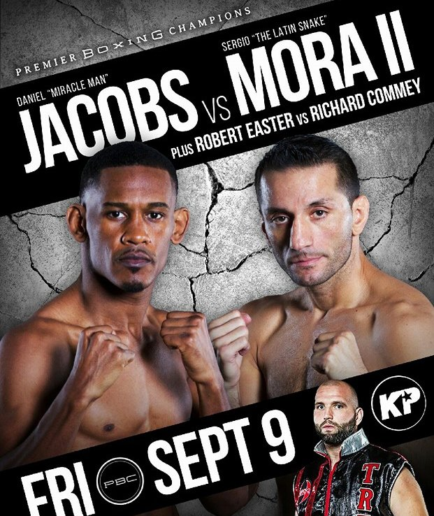 Daniel Jacobs will defend his title against Sergio Mora on September 9.