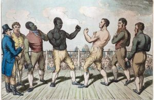 Fifteen thousand spectators attended the rematch between Cribb and Molineaux.