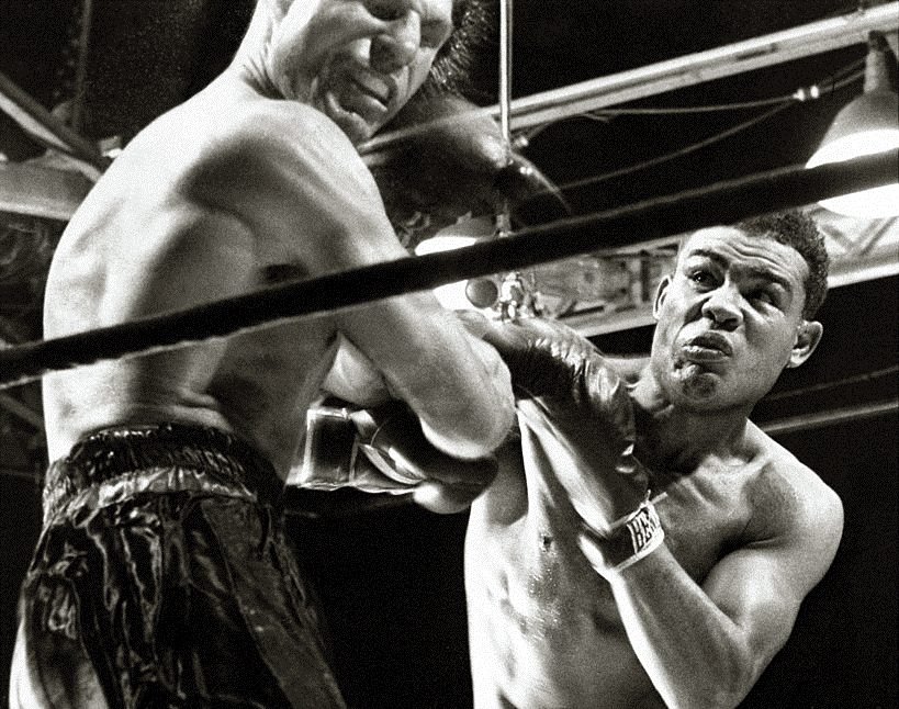Joe Louis stopped Lou Nova via sixth-round TKO at New York's Polo Grounds.