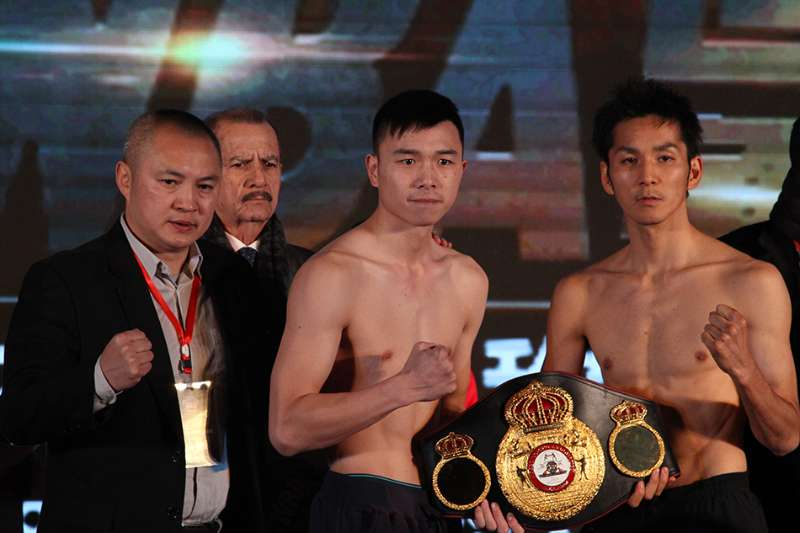 Can Xu defending against Shun Kubo in China