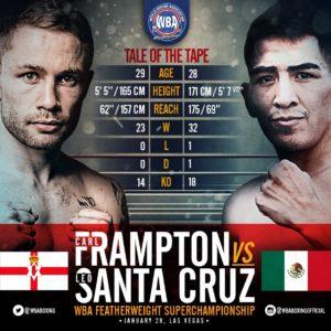Frampton y Santa Cruz cumplieron con la báscula