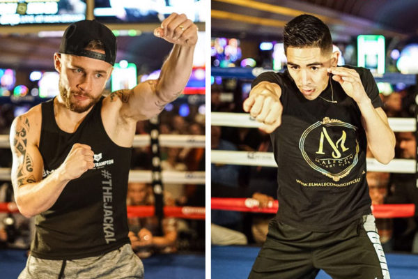 Frampton and Santa Cruz held their open workouts