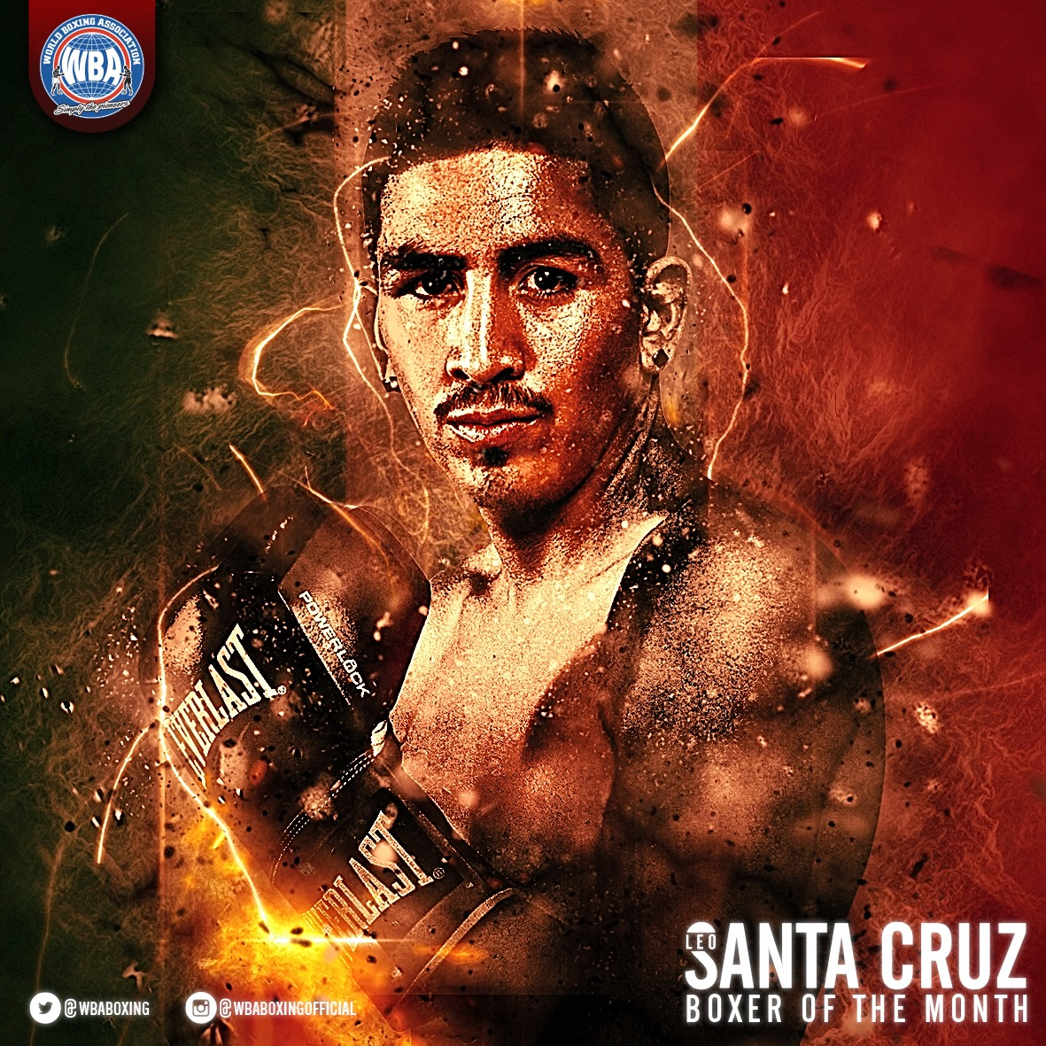 Leo Santa Cruz WBA Featherweight Super Champion - Boxer of the Month - January 2017
