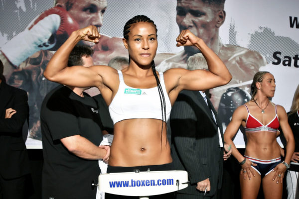"""First Lady"" Braekhus defending against Lauren in Norway."
