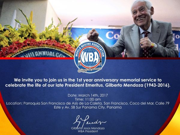 March will be filled with activities in honor of Dr. Gilberto Mendoza one year after his death