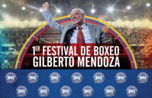 Primer festival de boxeo Gilberto Mendoza.