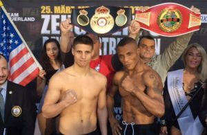 Tyron Zeuge vs Isaac Ekpo WBA Super Middleweight Championship. Photo Team Sauerland