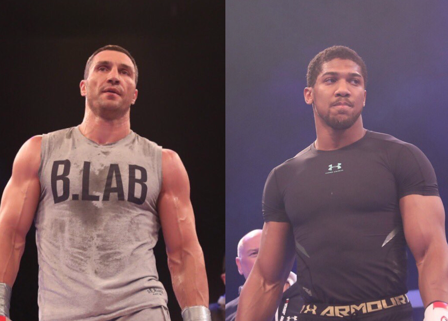 Joshua and Klitschko completed public workout at Wembley