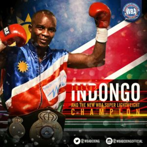 Indongo, new WBA Super Lightweight Champion