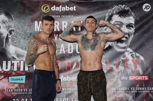 Murray and Rosado make weight