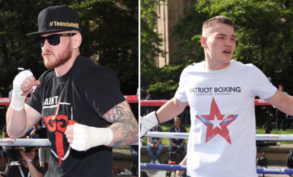Groves and Chudinov completed public workout in Sheffield. Photo: Matchroom Boxing