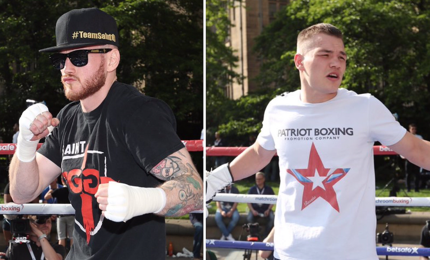 Groves and Chudinov completed public workout in Sheffield