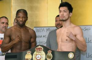 N'Dam y Murata en peso. Foto: Naoki Fukuda.