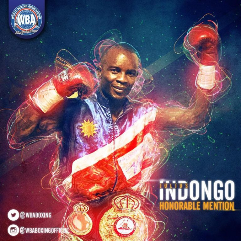 Julius Indongo WBA Super Lightweight Champion - WBA Honorable Mention - April 2017