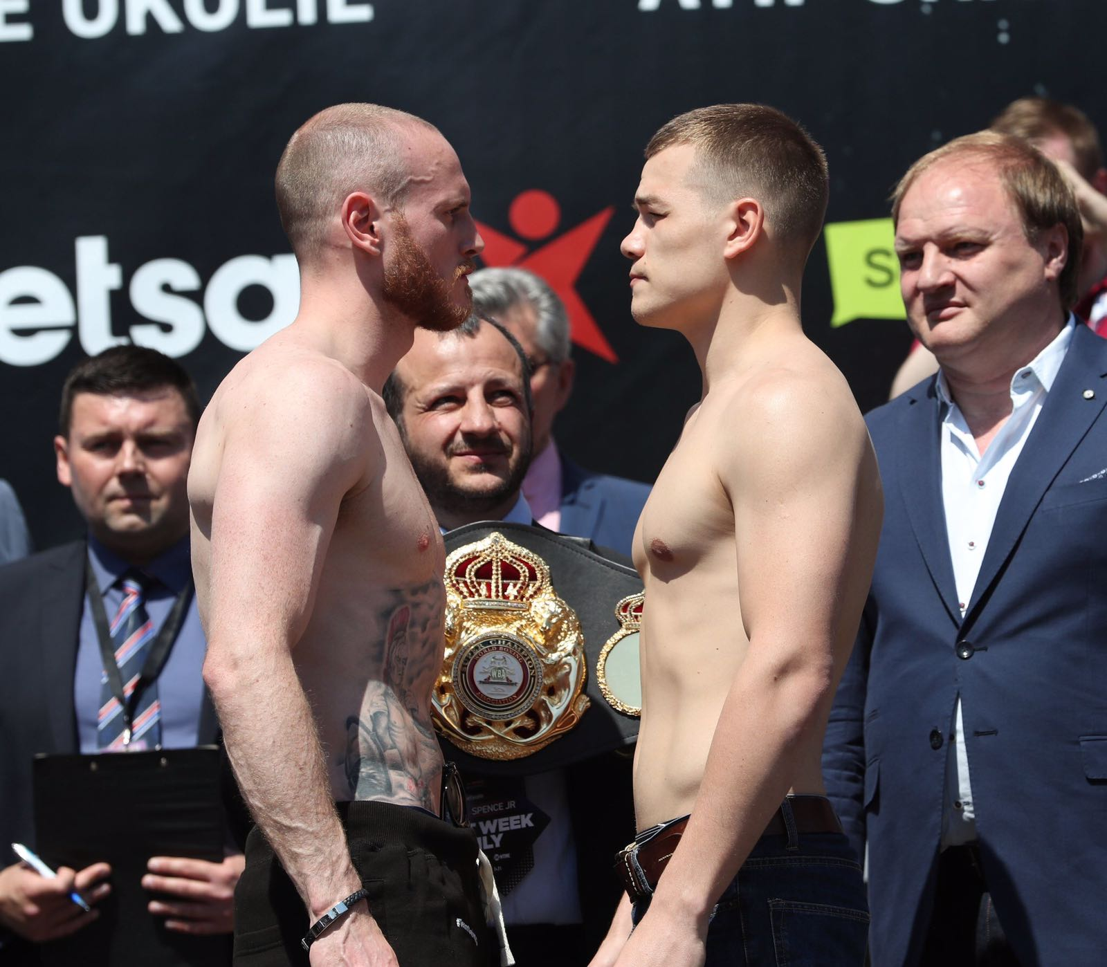 Groves and Chudinov in the weight and ready for the WBA super championship