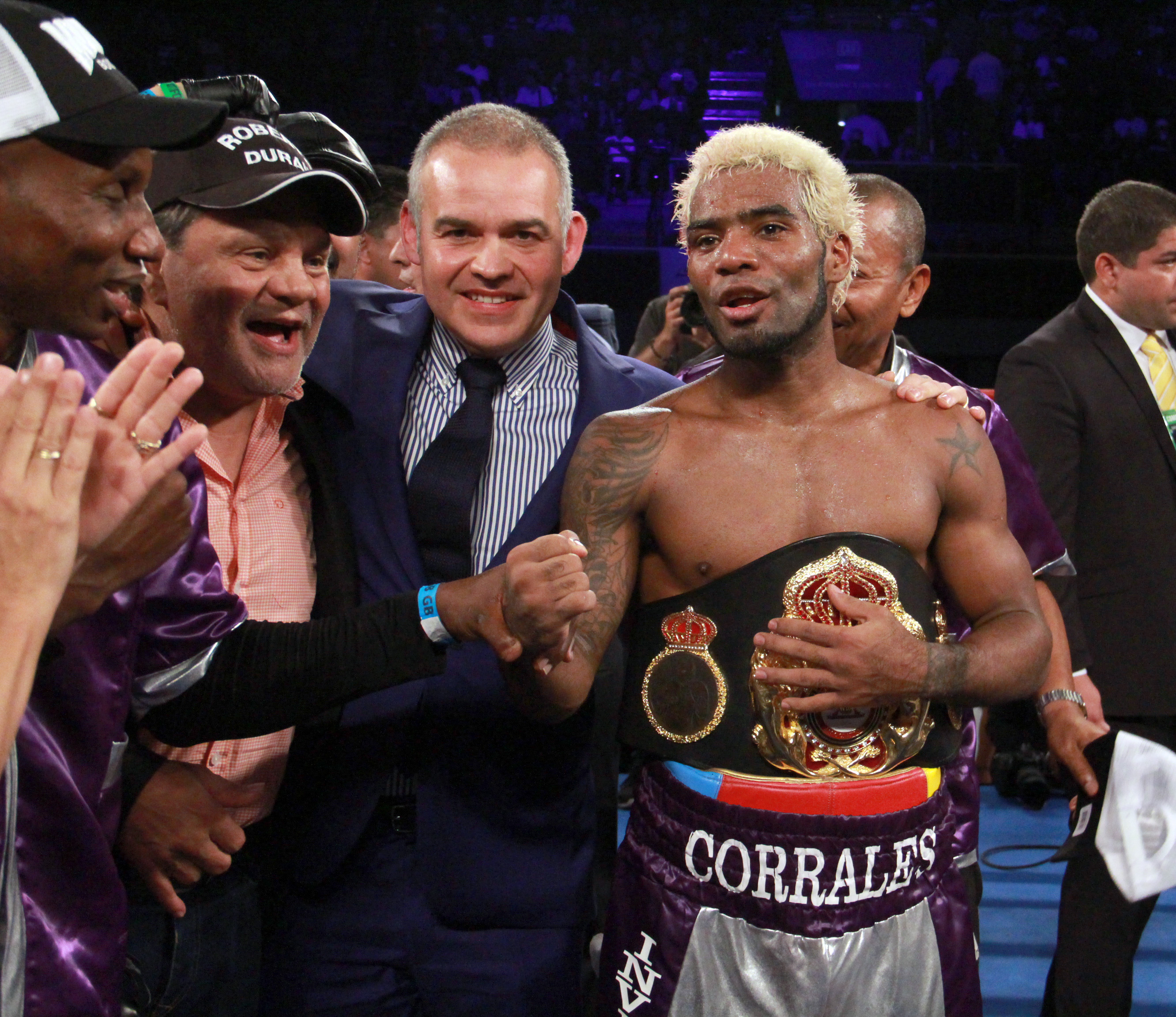 Corrales successfully defended his WBA title