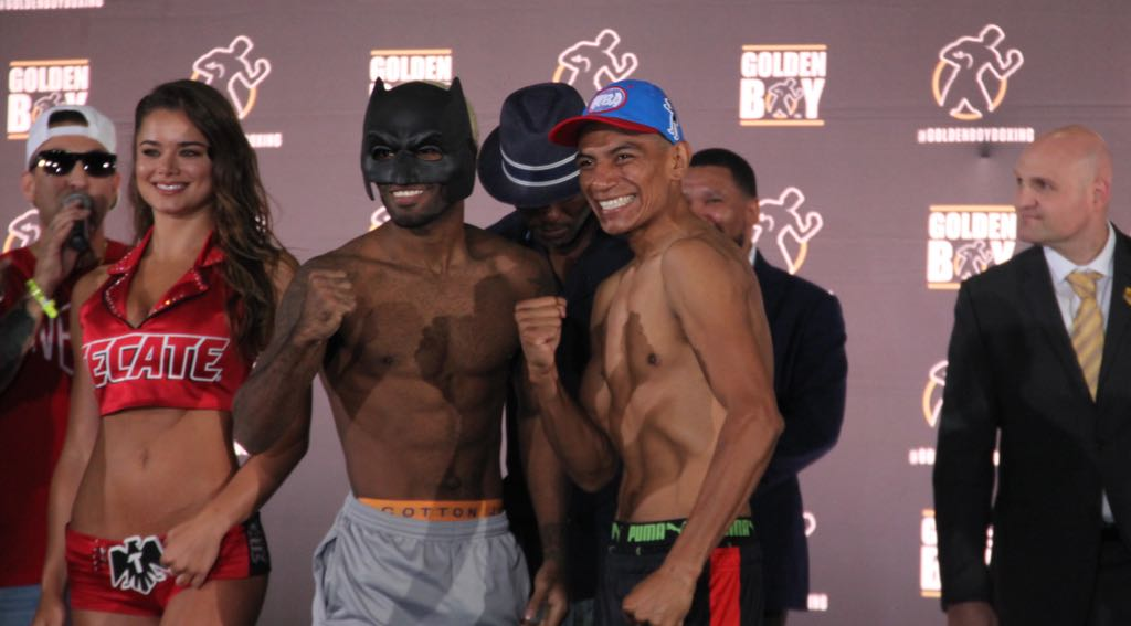 Corrales and Castellanos make weight in Inglewood.