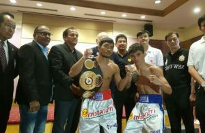 Niyomtrong and Loreto are in weight and ready to fight for the WBA Minimum weight belt.