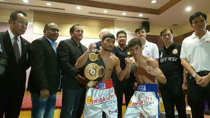 Niyomtrong and Loreto are in weight and ready to fight for the WBA Minimum weight belt