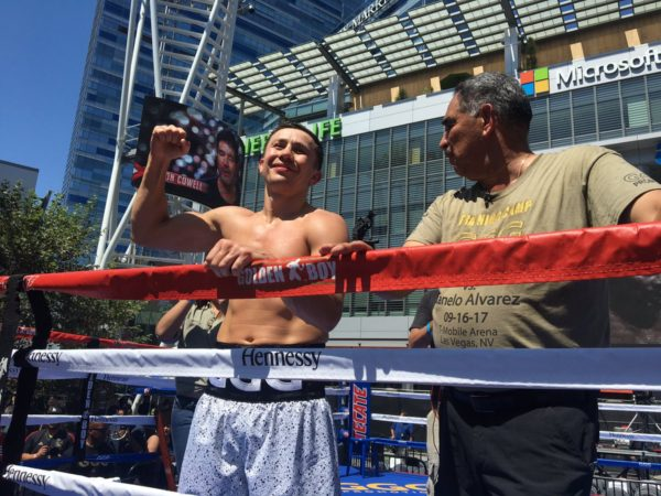 Golovkin and Canelo held public workout in Los Angeles