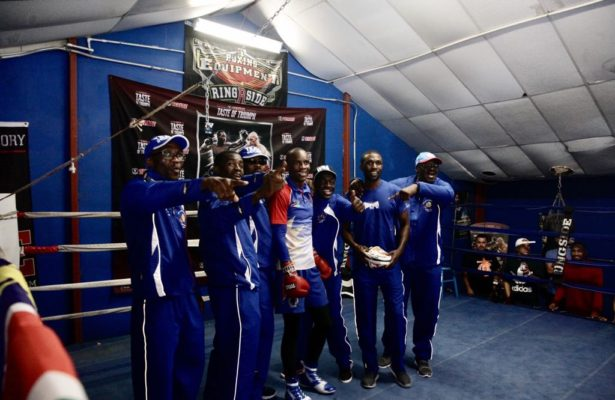 Indongo and Crawford held public workout.