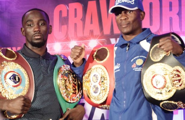 Indongo and Crawford go face to face at press conference.