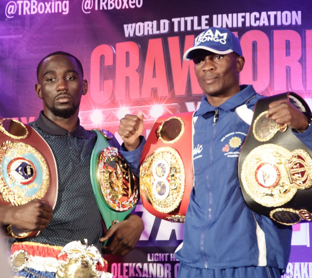 Indongo and Crawford go face to face at press conference