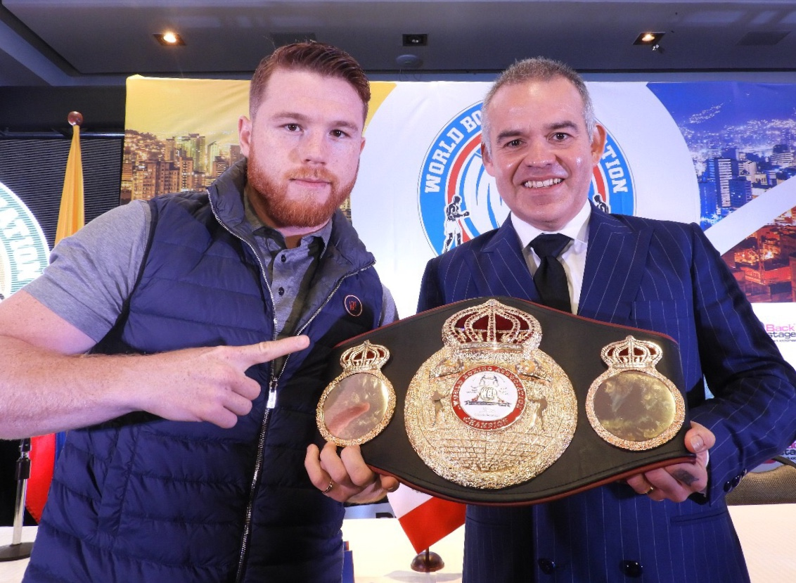 WBA presented World Convention next to Canelo in Medellin