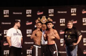Marrero and Rojas for the WBA Interim Featherweight title this Friday in Las Vegas.