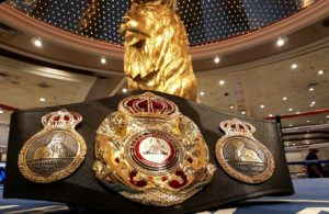 A special belt for a special fight.
