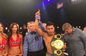 Jesús Rojas, new WBA Interim Featherweight Champion.